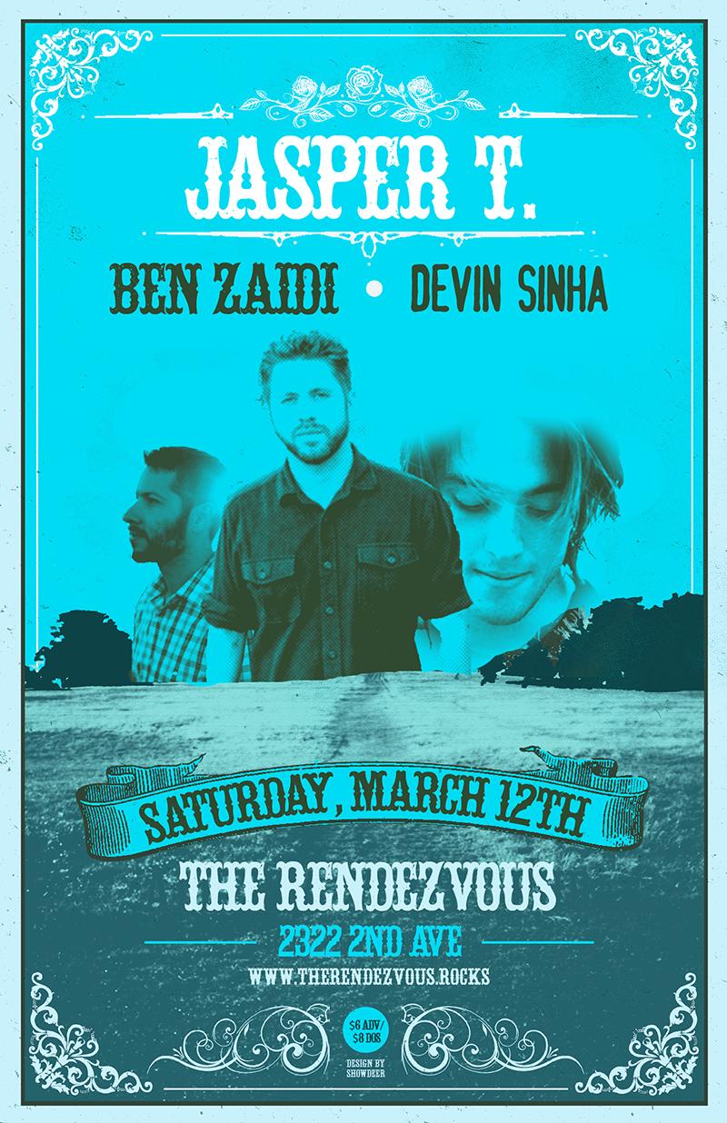 Devin Sinha w/ Jasper T. + Ben Zaidi  sc 1 st  The Rendezvous & Devin Sinha w/ Jasper T. + Ben Zaidi - The Rendezvous
